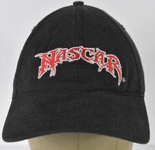 Black Nascar Embroidered Baseball Hat Cap Strapback Strap