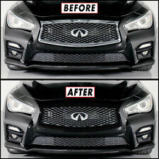 Chrome Delete Blackout Overlay for 2014-17 Infiniti Q50 Q50S Front Grille Trim (Fits: Infiniti)