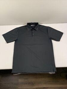 Men's Nike Golf Dri Fit Short Sleeve Polo Shirt Sz L Black Polyester