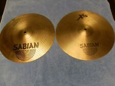 "SABIAN 14"" XS 20 MATCHED SET OF HI HAT CYMBALS EX CONDITION.THEY SOUND FANTASTIC"