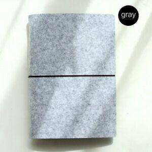 Notebook Journal Diary Binder Loose Leaf Felt Fabrics Cover Office School Supply