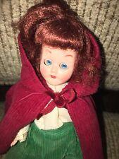 Vintage *Little Red Riding Hood* 8�Sleep Teal Blue Eyes Red Hair Plastic Doll