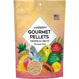 LAFEBER GOURMET PELLETS - TROPICAL FRUIT - BUDGIE, LOVEBIRD FOOD - 567G
