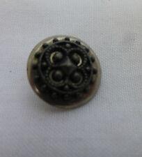 "Small,1/2"",Antique Cut Steel Button CS2"