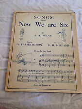 A A Milne / E H Shepard, Songs From Now We Are Six, 1st 1927 DW, Winnie The Pooh