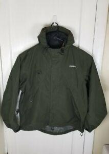 Frabill Green Fishing Rain Coat Men Large 3M Gale? Jacket Waterproof Windproof