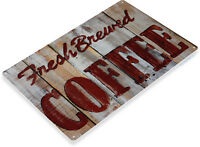 TIN SIGN Fresh Brewed Rustic Coffee Sign Store Farm Shop Café Kitchen A068