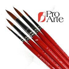 PRO Arte Nylon Academy Round Brush Set Wallet Artisti Pittura Pennelli