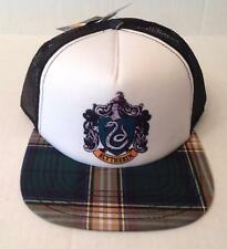 Harry Potter Hat Slytherin Men's NWT Snapback Green Plaid Mesh Flat Bill Adjust