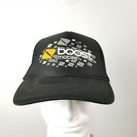 Boost Mobile Mesh Trucker Hat Cap Snapback Black White Orange Gray Rope Otto