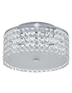 Hampton Bay Glam Cobalt 3-Light Brushed Chrome Ceiling Light