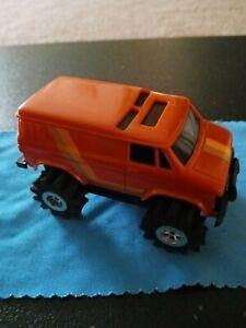 Schaper Stomper Chevy Van Orange w/ Strips Runs and  Lights complete SCARCE