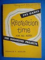 RECREATION TIME FOR ALL AGES BY KEELER VINTAGE ACTIVITY 392 GAMES  PROJECT BOOK