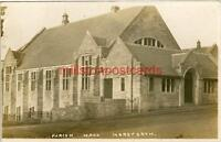 REAL PHOTO POSTCARD OF THE PARISH HALL, HORSFORTH, (NEAR LEEDS), WEST YORKSHIRE