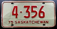 Nummernschild Canada Saskatchewan von 1975 mit kleiner Nummer. 13574.