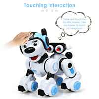RC Robotic Dog Interactive Puppy Toy Programmable Robot Kids Holidy Gift Blue