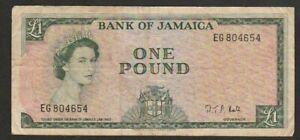 1964 JAMAICA 1 POUND NOTE