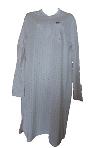 Men's Night Gown Patterned Crew Neck Long Sleeve Size M,L,XL,XXL