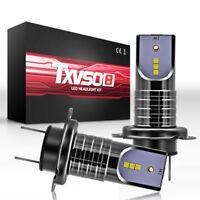 H7 110W 30000LM LED Headlight Conversion Bulb High Low Beam 6000K White 2Pcs/Set