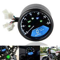 12V Universal Motorcycle LCD Digital Speedometer Odometer Tachometer Meter Gauge