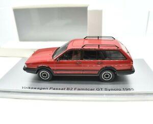 Miniature voiture auto 1:43 Kess Model VW Passat B2 Modélisme Véhicules Rouge