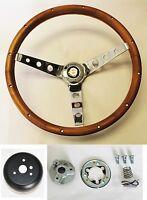 "1967 Chrysler 300 New Yorker Grant Wood Steering Wheel walnut 13 1/2"""