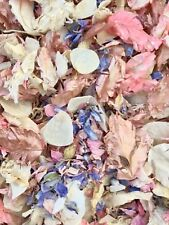ROSE GOLD, Pink Lilac Ivory Dried Biodegradable Wedding Confetti. Real Petals