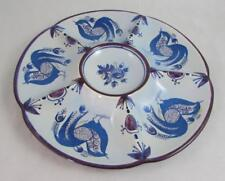 Royal Copenhagen Aluminia Birds Divided Plate Relish Dish Berte Jessen 218/1802