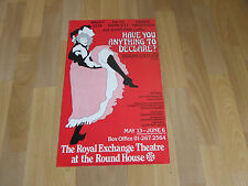 HAVE you ANYTHING to DECLARE Farce at Royal EXCHANGE Round House Theatre Poster