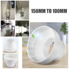 150mm to 100mm Ventilation Pipe Pipeline Circular Vent Ducting Reducer Adaptor