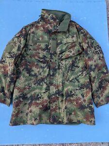 SERBIA Army Military M10 Digital Camouflage Winter Jacket Parka size 180/52