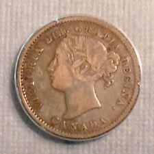 - 1858 Canada Ten 10 Cents Victoria