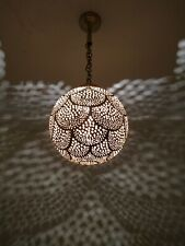 Moroccan Lamp Pendant Light Brass Closed Bottom Antique Vintage, Moroccan Brass