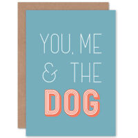 You Me The Dog Blank Greeting Card With Envelope
