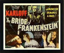 Frankenstein Poster Framed Quality Print and Framing 12x15 inches