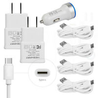 For LG Q7+ Stylo 4 Plus V40 G8 ThinQ V30S V30+ G6+ Car Wall Charger Type C Cable