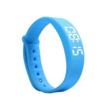 Kids Gift Activity Tracker Bracelet Pedometer Fitness Band Fitbit Style Watch UK Blue