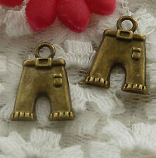 free ship 70 pieces bronze plated pants charms 17x13mm #2310