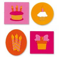Birthday Knockout Cake Candles & Cupcake Sizzix Sizzlits Die Set 655077 NEW!