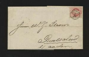5 Kreuzer-Brief 1869 aus Brünn Bahnhof mit Fingerhutstempel