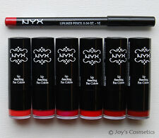 """Hot Date"" NYX Round Lipstick + Lip pencil 817 Hot Red Set *Joy's cosmetics*"