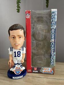 "PEYTON MANNING Indianapolis Colts SUPER BOWL XLI ""Knucklehead"" Bobblehead NIB!"
