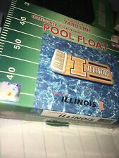 Rare Illinois Fighting Illini Pool Float Inflatable 27 X 66 inches X 5 inches