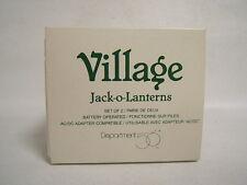 Dept 56 Halloween Village Accessories Jack-o-Lanterns 2 Packages New