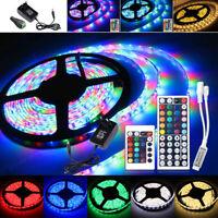 RGB 5m 300LEDs 3528 SMD Flexible LED Strip Tiras de luces 12V 2A Lampara EU Plug