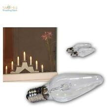 3x LED E10 Ersatz-Glühbrine klar-Kerze für Lichterkette Schwibbogen Glühlampe