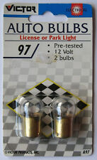 Victor 97 Automotive Bulbs Pair New in Package, for License or Park Light