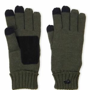 PAJAR CANADA MENS Military Green Knit Touchscreen Gloves NWT