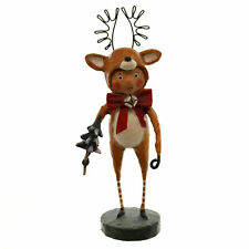LORI MITCHELL ~ Little Dasher ~ Folk Art Christmas Reindeer Figure ~ Free Ship