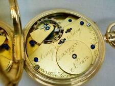 Fine 18 Carat Gold English Free-Sprung A & N C S Gentleman's Pocket Watch.